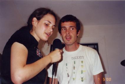 Rebecca Schiffman and Walter Schreifels recording