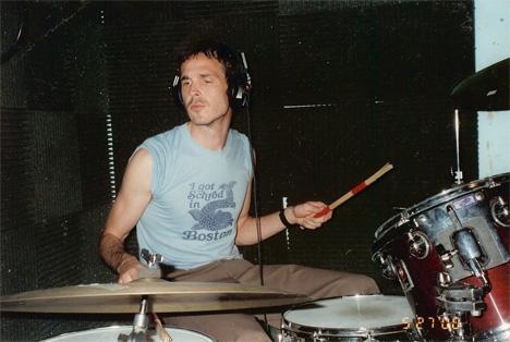 Walter Schreifels playing drums
