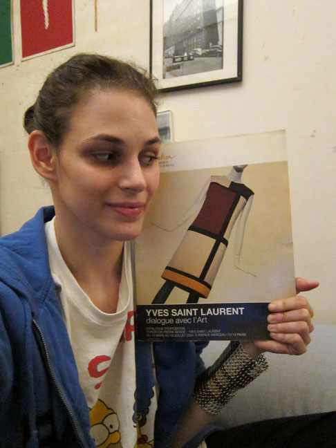 Rebecca Schiffman with YSL Book and Mondrian Cuff