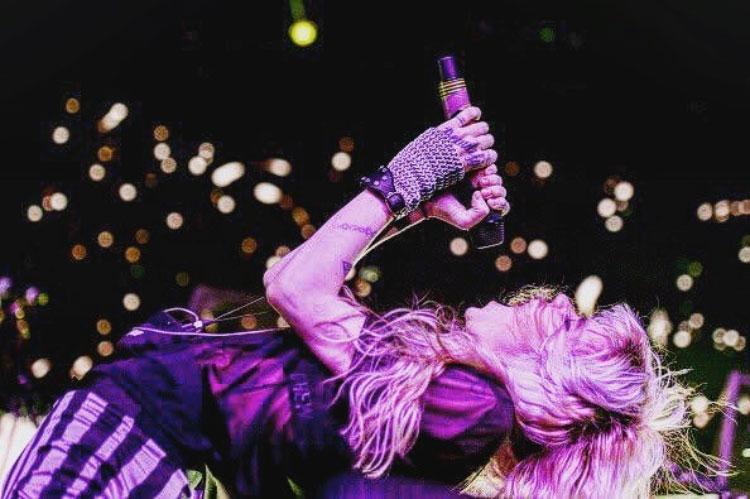 Grimes wearing Rebecca Schiffman Jewelry at Coachella 2016.