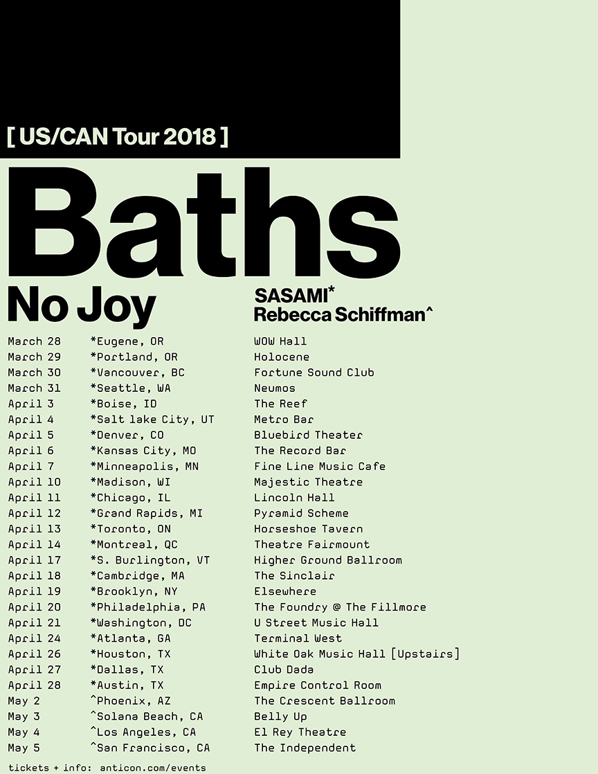 Baths No Joy Rebecca Schiffman flyer