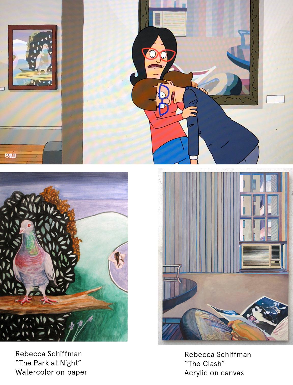 RebeccaSchiffman_ParkClash_BobsBurgers_Collage