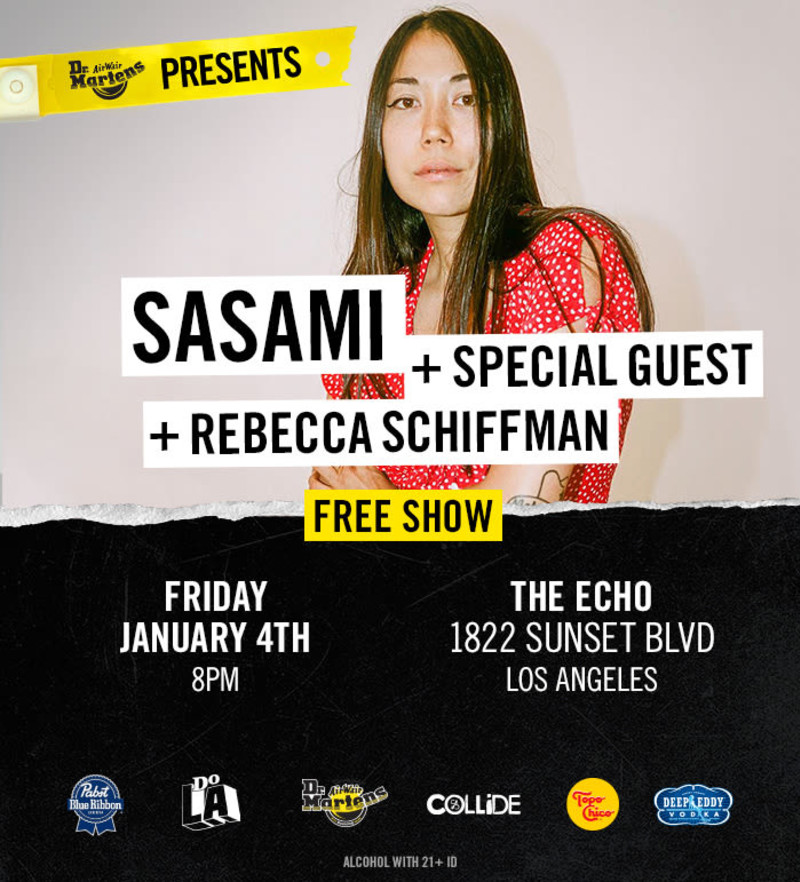 SASAMI and Rebecca Schiffman at The Echo Flyer