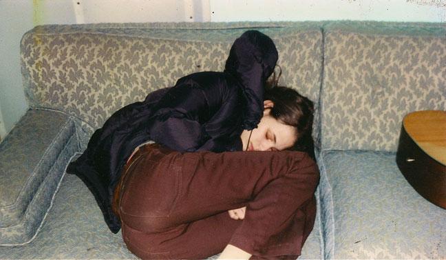 Rebecca Schiffman on couch