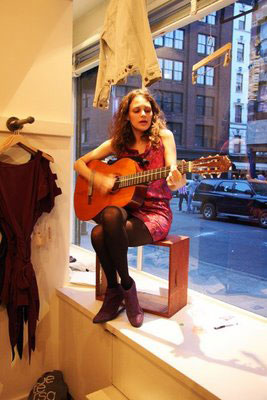 Rebecca Schiffman at Unis Store, Photo by Johnny Misheff