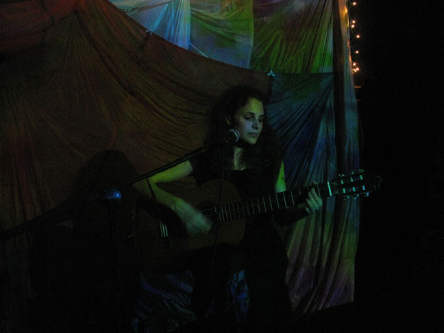 Rebecca Schiffman at Bruar Falls, Photo by Katie Wagner