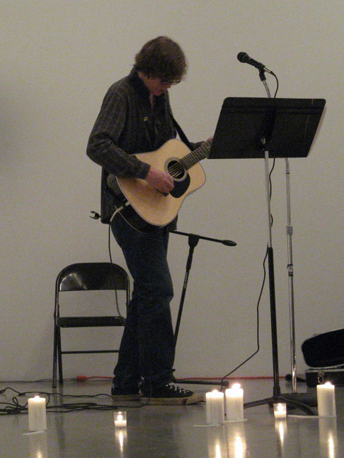 Thurston Moore performing at Mitchell-Innes & Nash